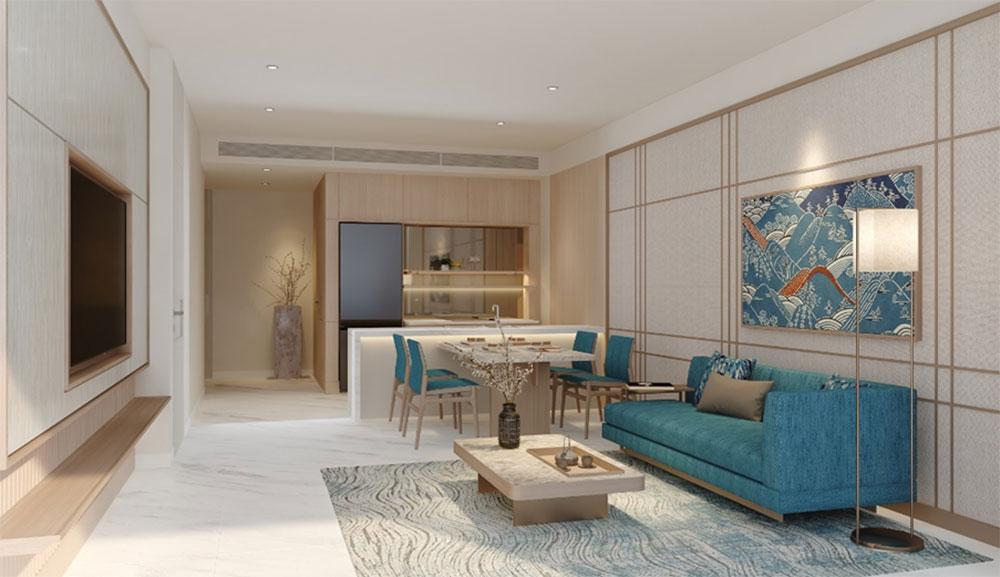 Căn hộ được thiết kế theo phong cách Nhật tại Takashi Ocean Suite Kỳ Co